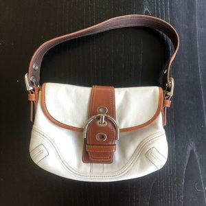 Coach purse brown and white